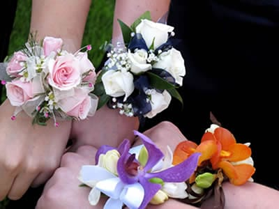 Wrist Corsages - Girls Comparing