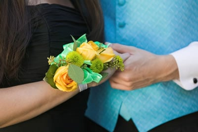 Wrist Corsage Yellow and Green